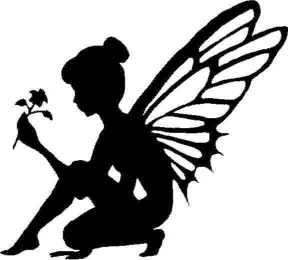 Fairy Silhouette With Flower Vinyl Decal Sticker Car Truck