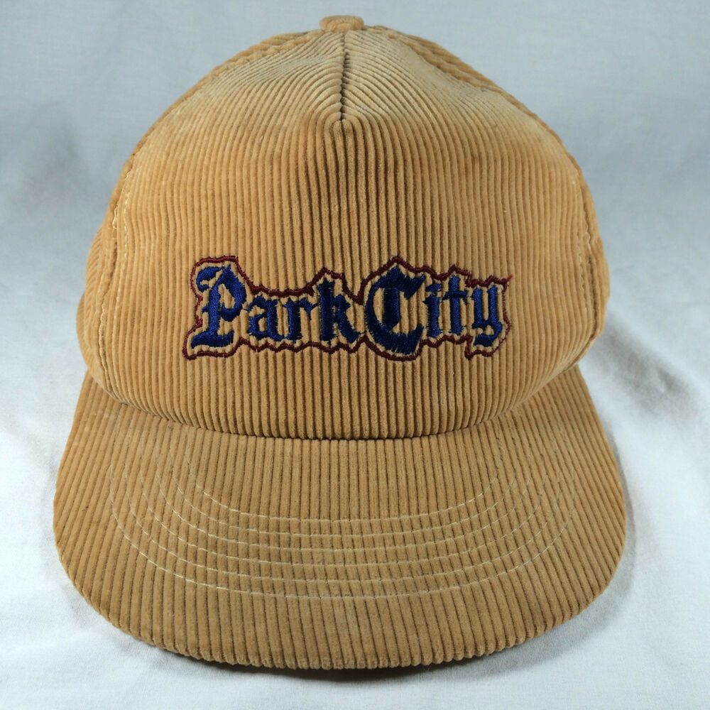 Details about Vintage Park City Hat Corduroy Cap Adjustable Tan 100% Cotton 86a561b3b29