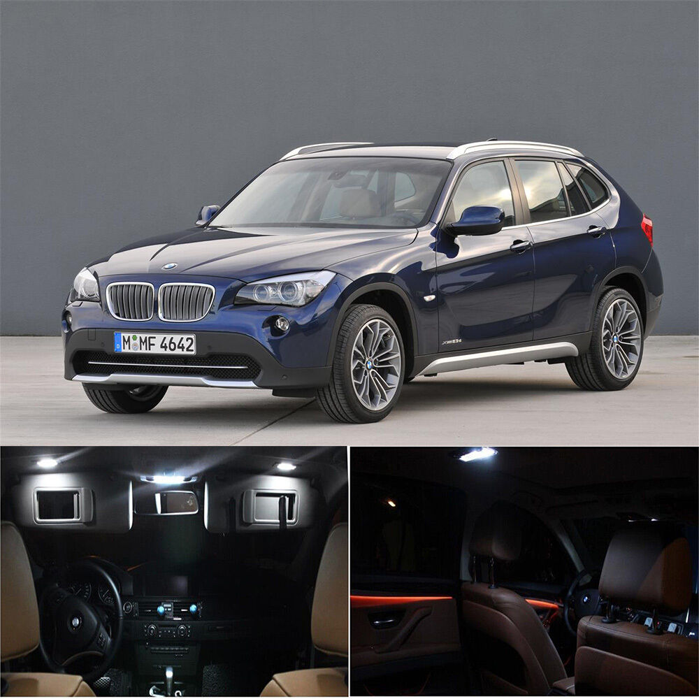 16 white interior led light bulb full package for bmw x1. Black Bedroom Furniture Sets. Home Design Ideas