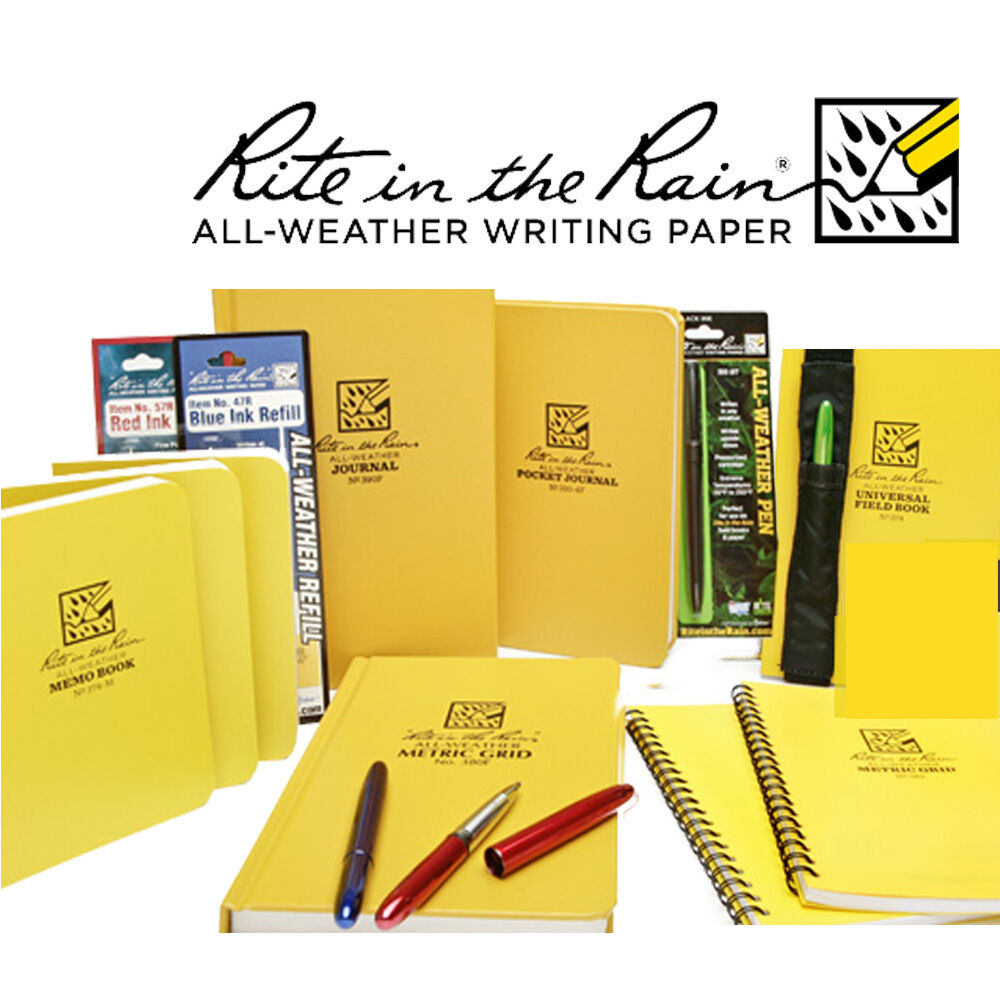 weather writing paper Rite in the rain all-weather top-spiral notebook, 4 x 6 rite in the rain all-weather writing products have been made recycle rite in the rain paper with.