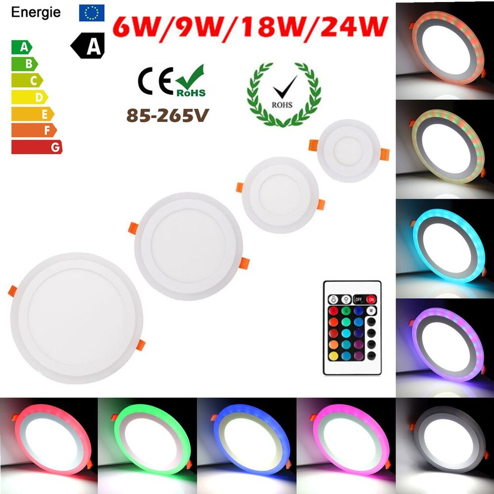 White RGB Dual Color LED Light LED Ceiling Recessed Panel ...