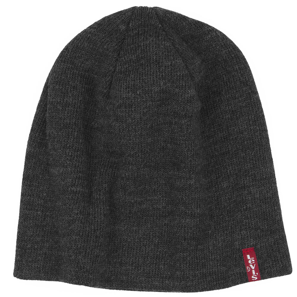 6d55b112690 Details about MENS LEVIS PULL ON BEANIE   BEANY   WOOLY HAT OTIS - DARK GREY