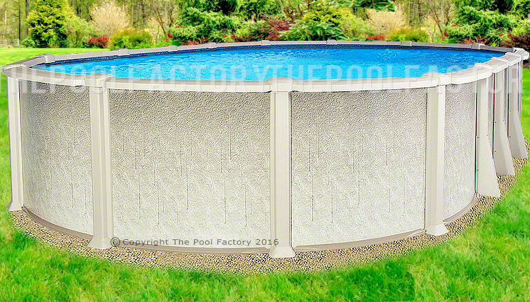 12x20x54 oval saltwater 8000 above ground salt swimming pool w 25 gauge liner ebay for 12 ft above ground swimming pools