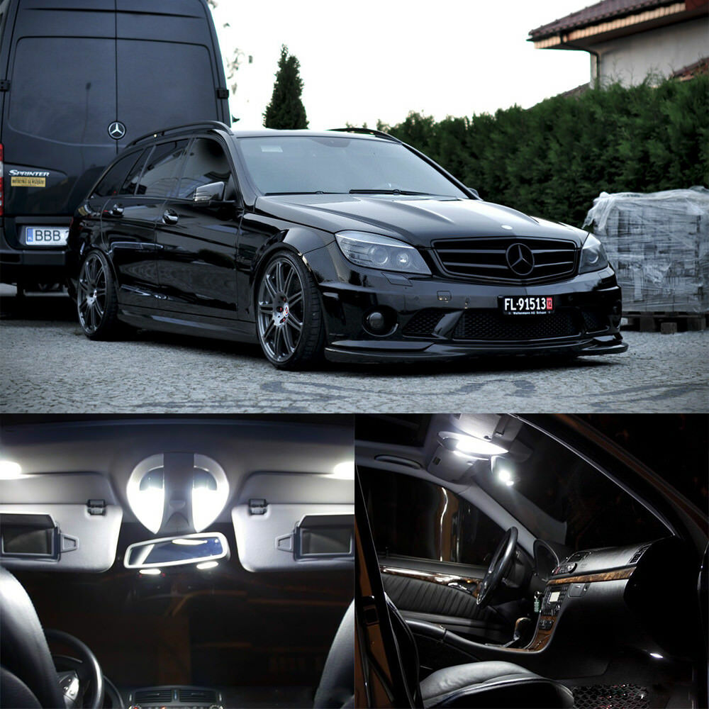 20 white canbus interior led light kit for mercedes benz c for Led light for mercedes benz