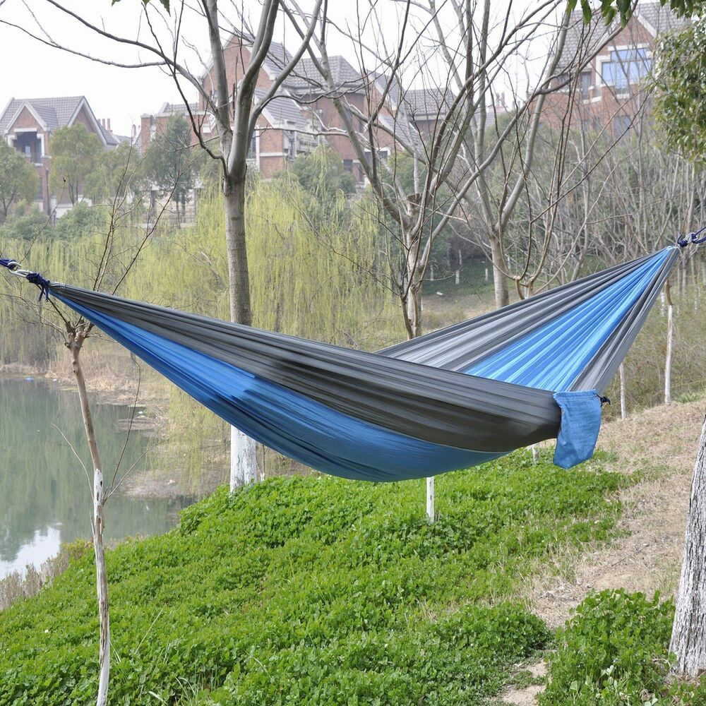 Tent Hammock For Two : Hot two person portable parachute nylon fabric camping