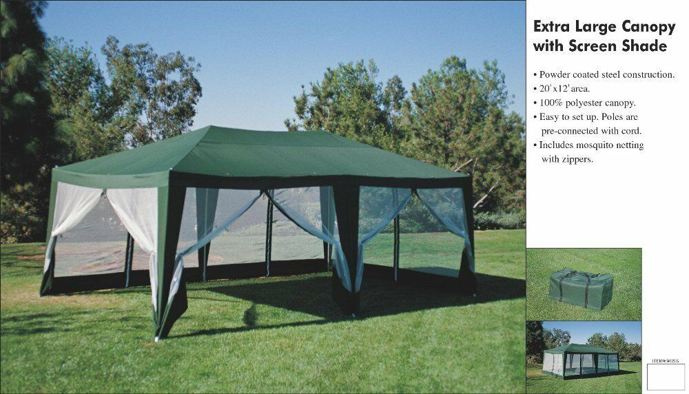12ft X20ft Screen House Party Tent Sun Shelter Gazebo
