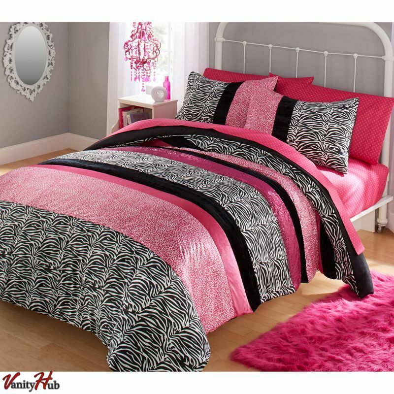 Girls Pink Comforter Set Queen Full Size Bedding