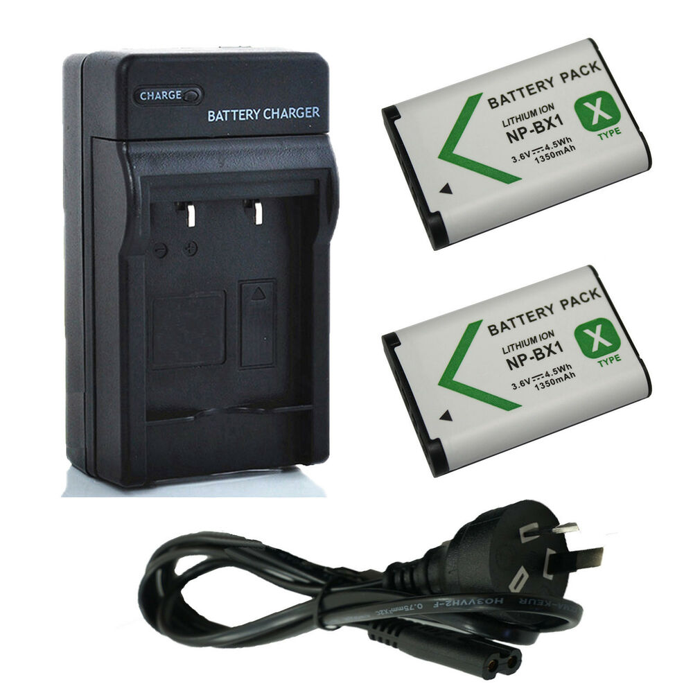 2x battery au charger for np bx1 sony cyber shot dsc rx100 rx1r rx1r ii wx500 ebay. Black Bedroom Furniture Sets. Home Design Ideas