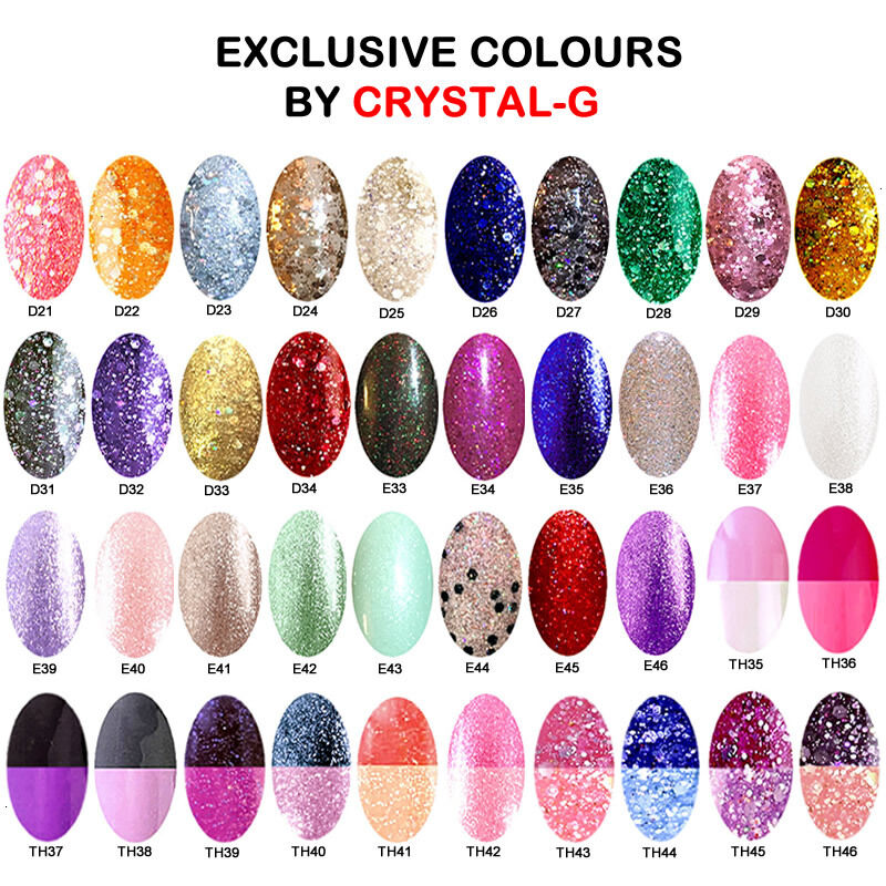 NEW 2018 Colours By CRYSTAL-G UV/LED Gel Soak-Off Nail