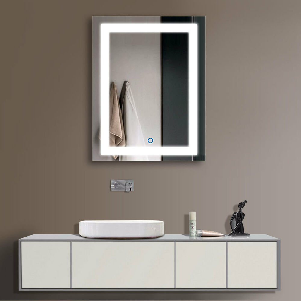 Illuminated Mirrors Bathroom: Decoraport Vertical LED Illuminated Lighted Bathroom Wall