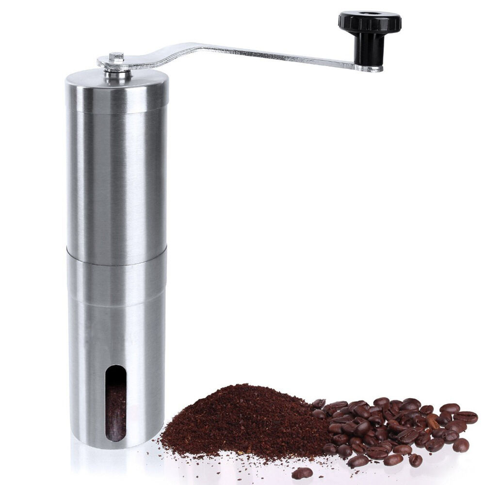 Hand Coffee Grinder ~ Stainless steel manual coffee grinder conical burr mill