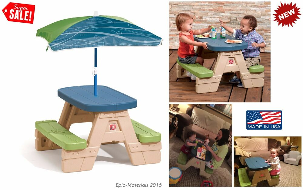 Picnic Table Kids Seat Bench Chair Dining Play Patio  : s l1000 from www.ebay.com size 1000 x 629 jpeg 89kB