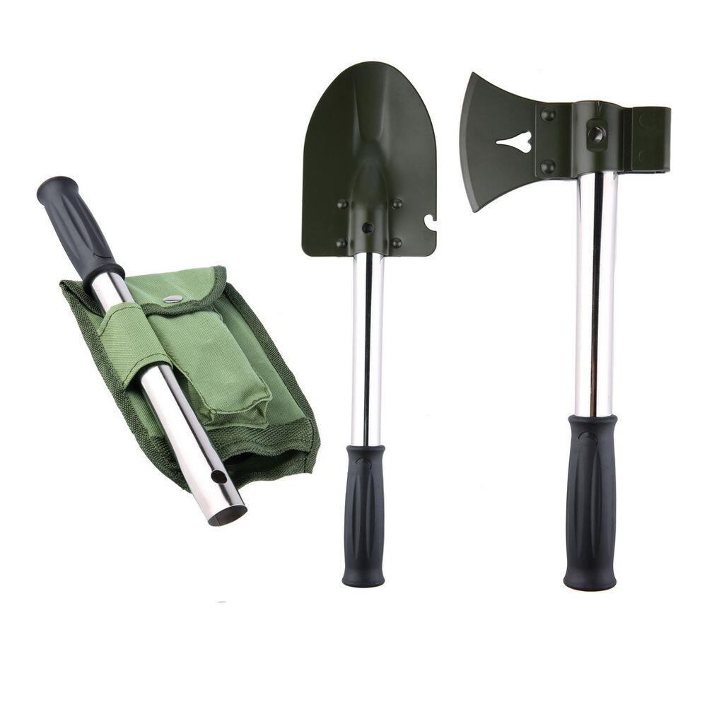 Folding military style camping backpacking shovel pick for Gardening tools walmart