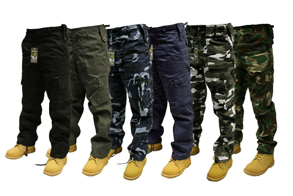 NiuZi Mens Loose Fit Cotton Casual Military Army Cargo