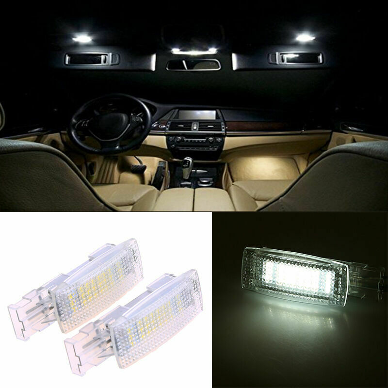 2pcs Led Interior Visor Vanity Mirror Light Lamp Fit Vw