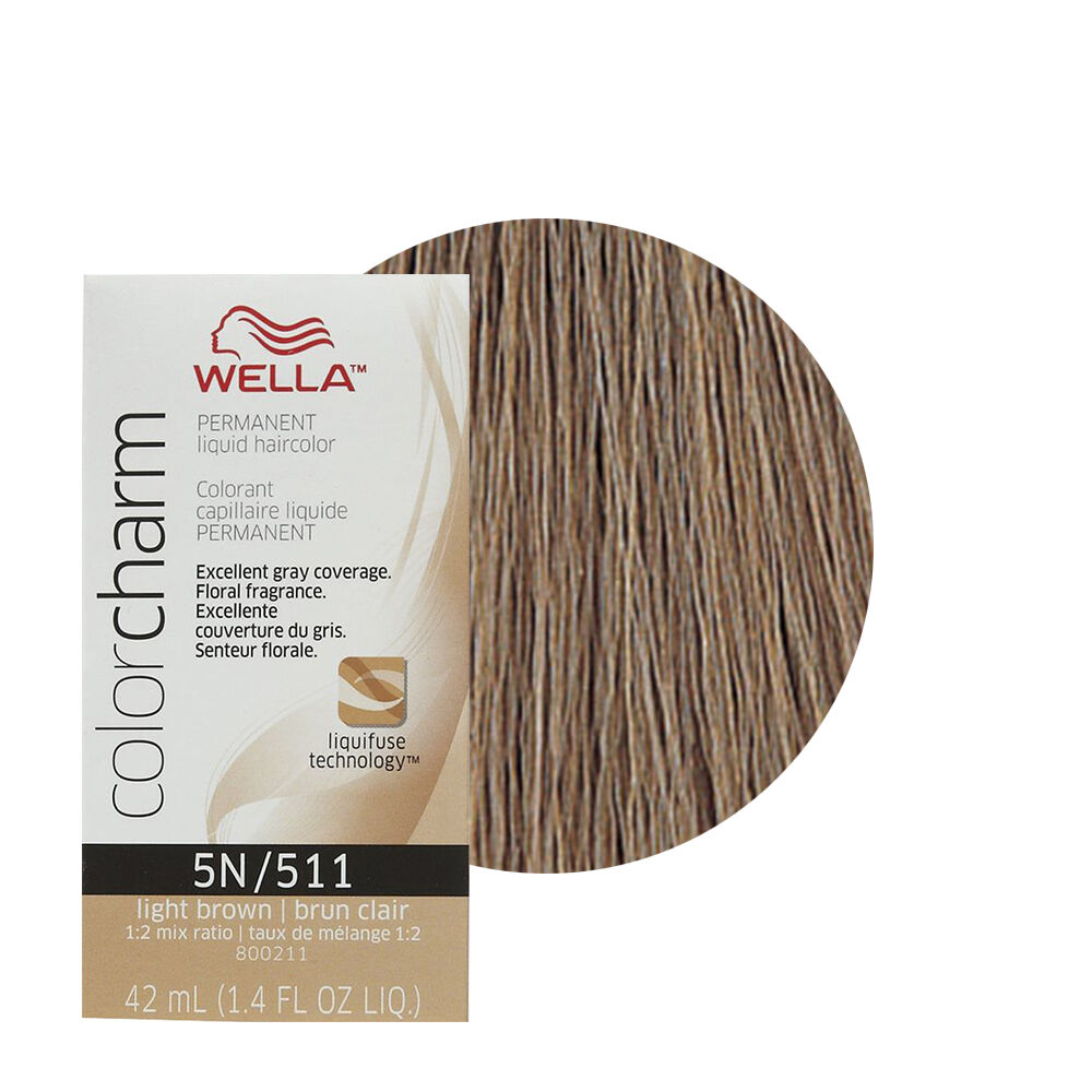 Wella Color Charm Permament Liquid Hair Color 42ml Light Brown 511