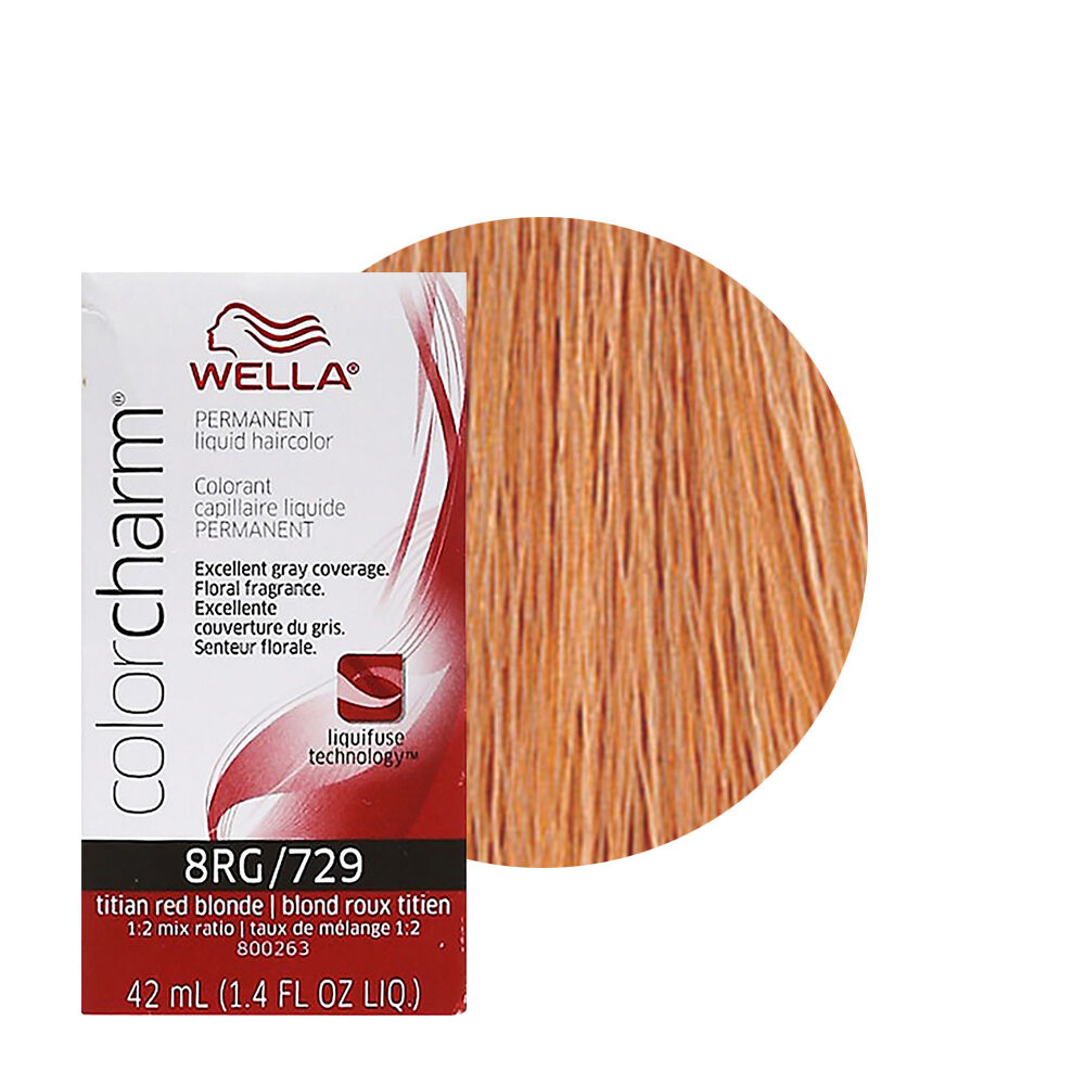 Wella Color Charm Permament Liquid Hair Color 42ml Titian Red Blonde
