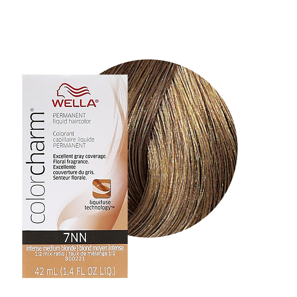 Wella Color Charm Permament Liquid Hair Color 42mL Intense Medium Blonde 7NN 381519064586  eBay