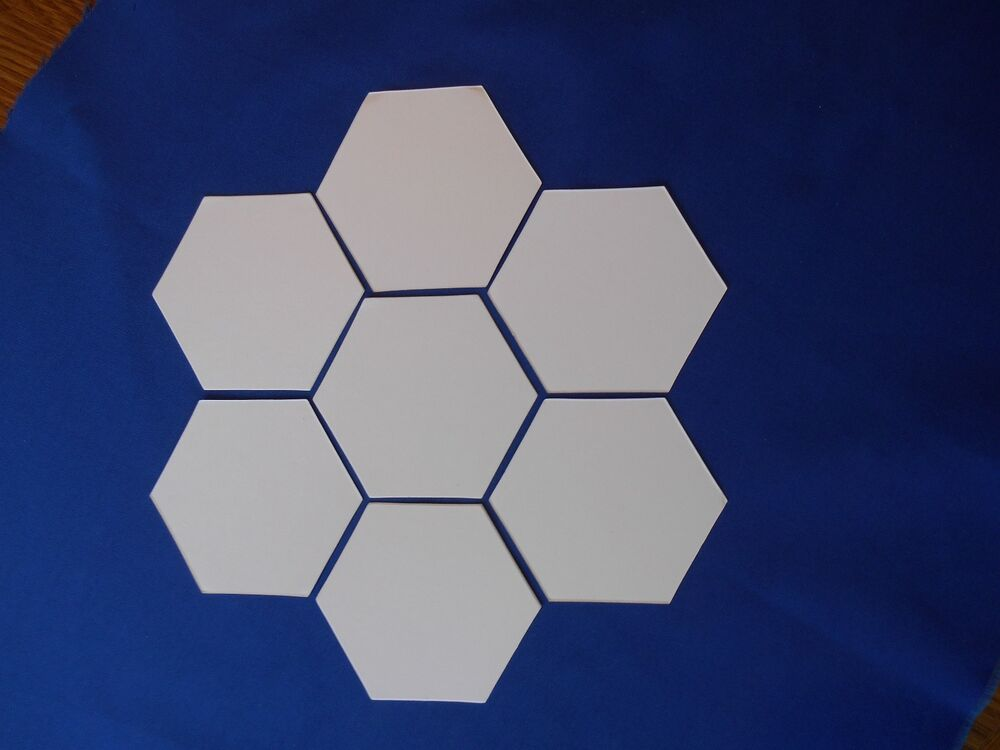 free english paper piecing hexagon templates - 3 4 inch hexagons 750 shapes for english paper piecing