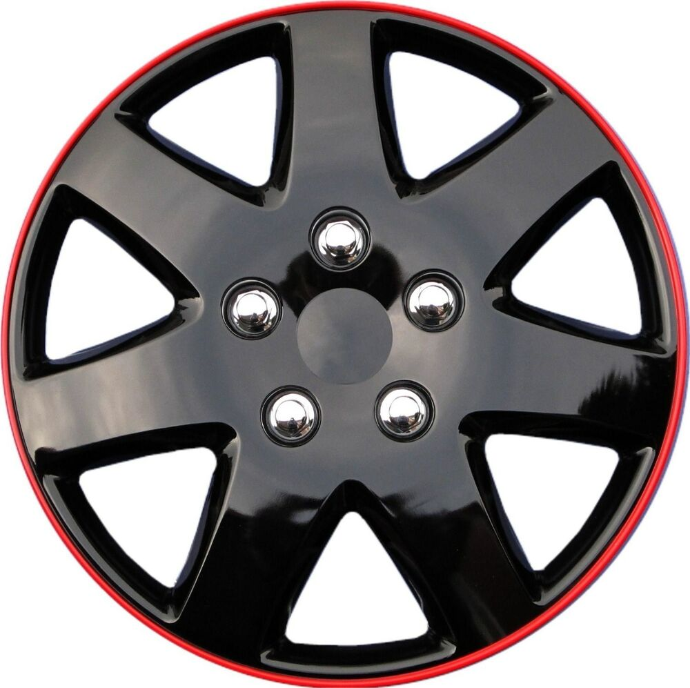 15 inch ice black hubcaps rims wheel covers set of 4 new toyota paseo replica ebay. Black Bedroom Furniture Sets. Home Design Ideas