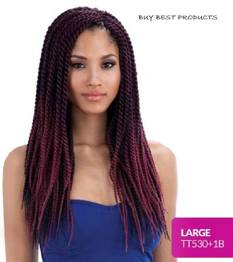 Crochet Braids Ebay : FreeTress Synthetic Hair Crochet Braids Senegalese Twist Large eBay