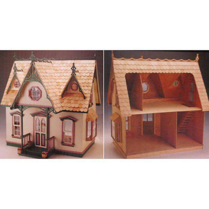Orchid All Wood Dollhouse Kit, Great For Beginners, Easy