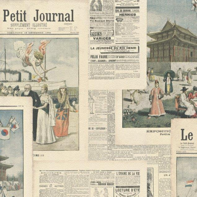 Crispy Paper French Old Style Newspaper Wallpaper Paste