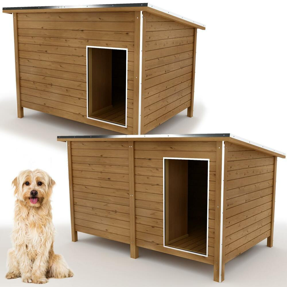 hundeh tte hundehaus hunde haus h hle h tte isoliert windfang massivholz ebay. Black Bedroom Furniture Sets. Home Design Ideas