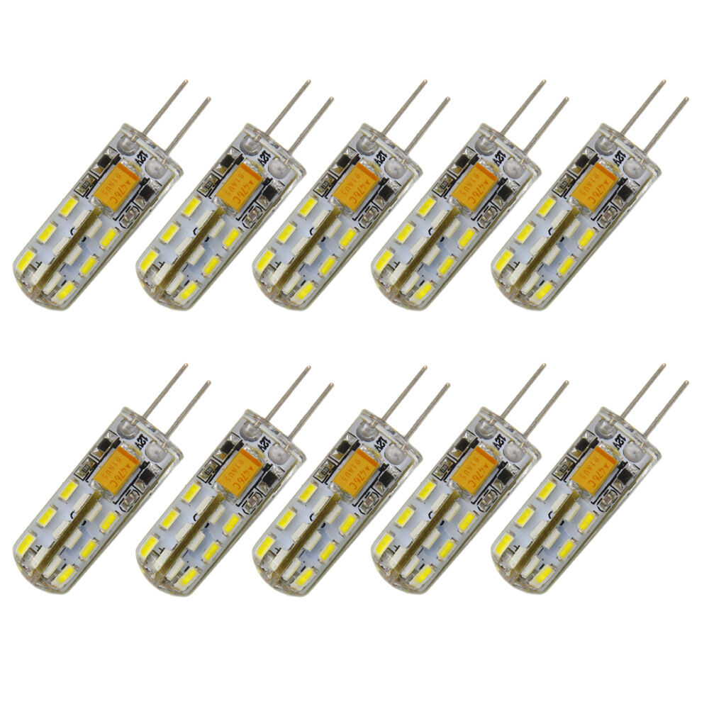 10 x g4 3014 bi pin base 24 smd led bulbs light lamp rv. Black Bedroom Furniture Sets. Home Design Ideas
