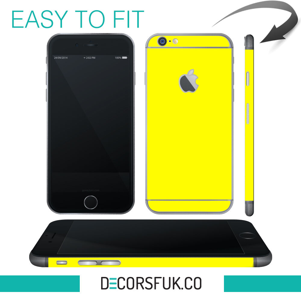 Details about iphone 6 skin yellow apple skin vinyl iphone 6 sticker iphone 6 decals