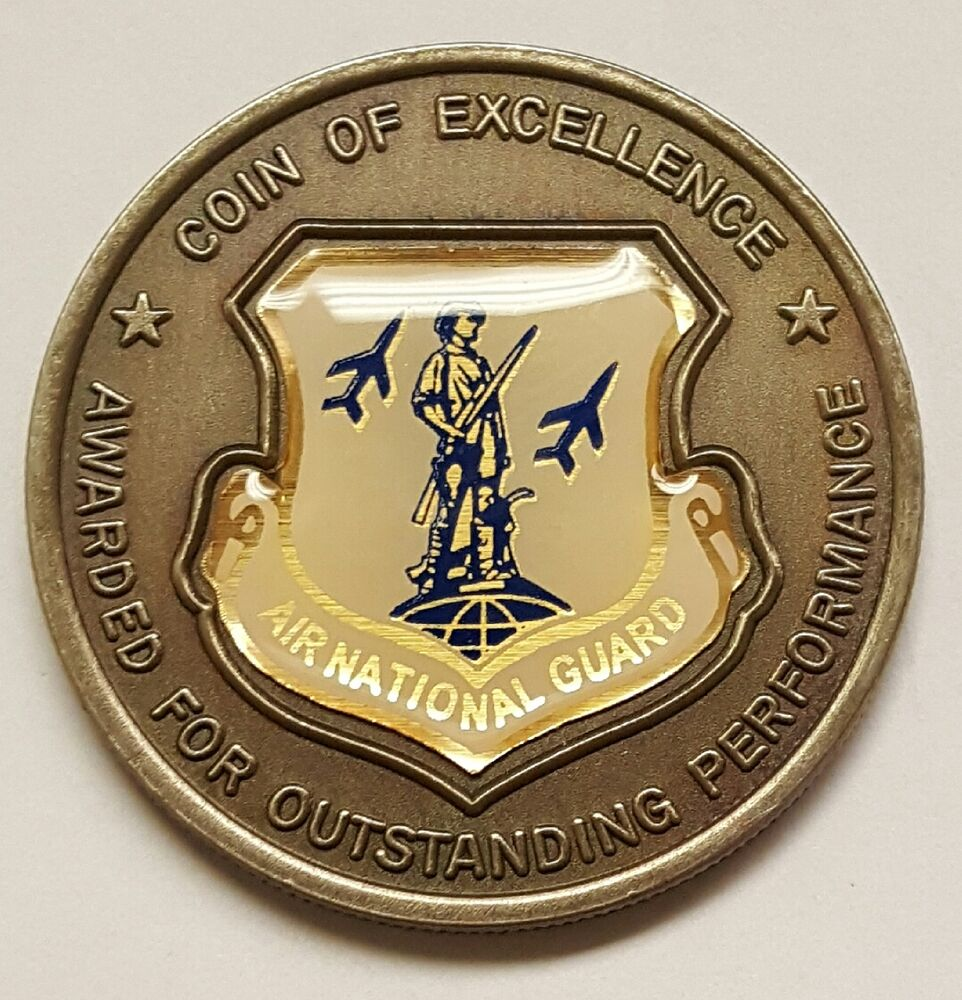 us national guard bureau air national guard coin of excellence 1 5 ebay. Black Bedroom Furniture Sets. Home Design Ideas