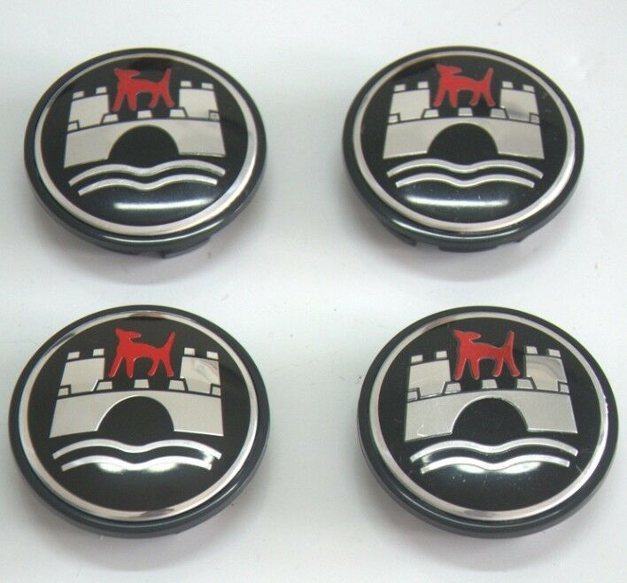4pcs VW Volkswagen Wolfsburg Red Wolf Wheel Center Caps 65mm/2.55