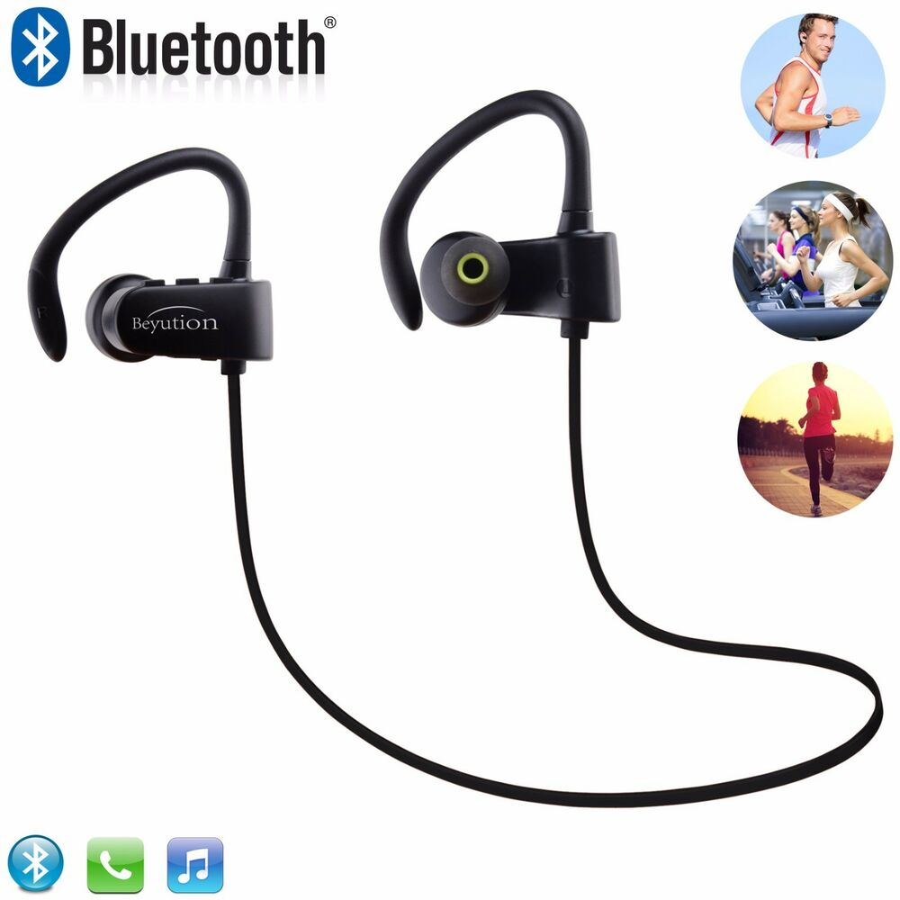 wireless bluetooth headset sport stereo headphone earphone for samsung iphone lg ebay. Black Bedroom Furniture Sets. Home Design Ideas