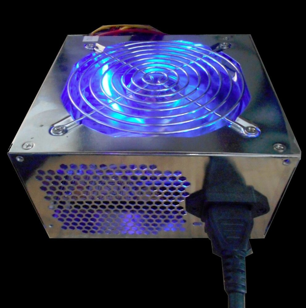 New 550watt Led Atx 12v V2 0 20 24pin Pcie Sata 120mm Fan