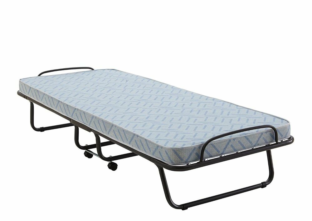 Portable folding roll away bed rest mattress home for Places that sell beds