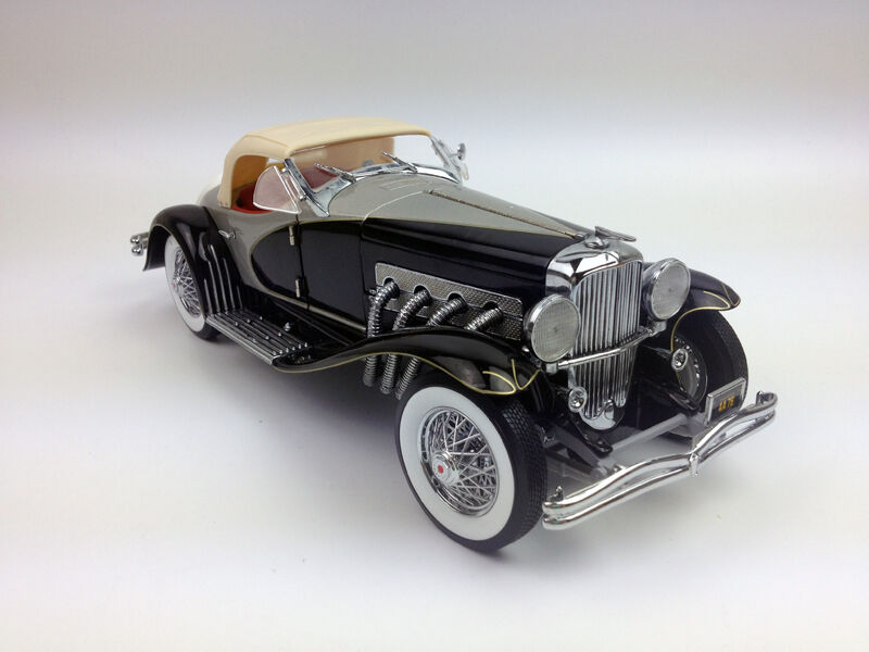 ertl 1 18 1935 duesenberg ssj diecast model metal car black rare white box ebay. Black Bedroom Furniture Sets. Home Design Ideas
