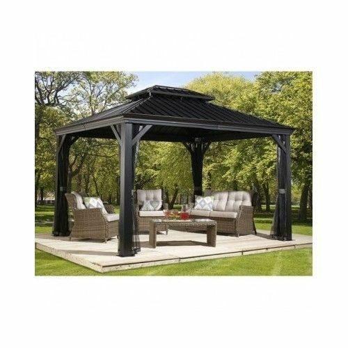 Metal Roof Shelters : Sojag messina galvanized steel roof sun shelter