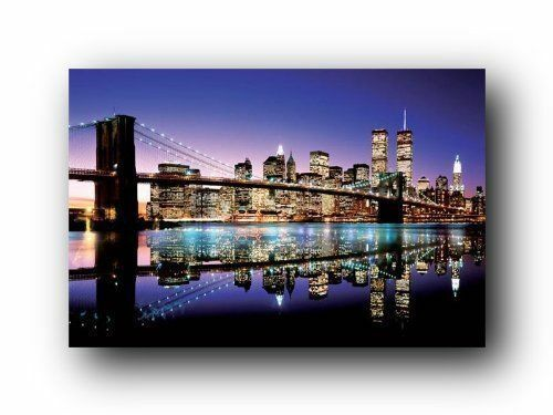 Brooklyn bridge poster print wall art home decor skyline for Home decor new york