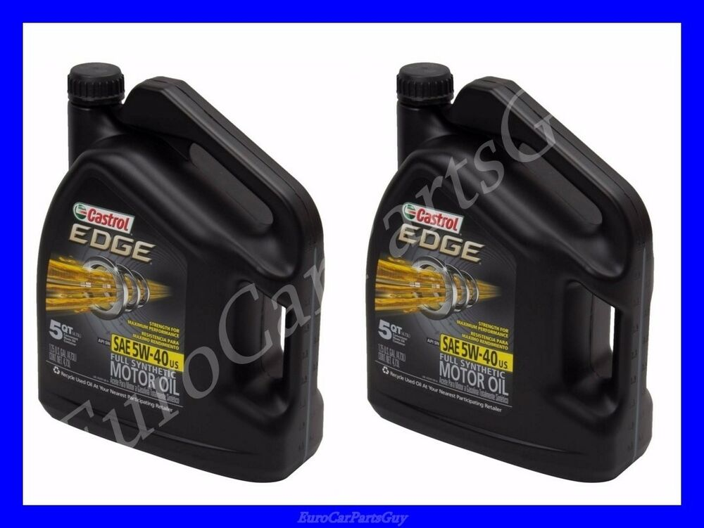 10 quarts castrol edge synthetic engine oil 5w 40 audi bmw for 5 w 40 motor oil
