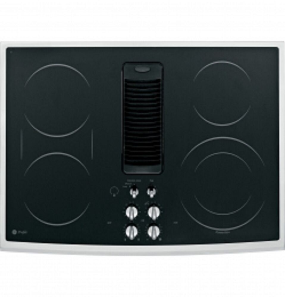 ge profile 30 electric downdraft cooktop pp989snss 84691172598 ebay. Black Bedroom Furniture Sets. Home Design Ideas