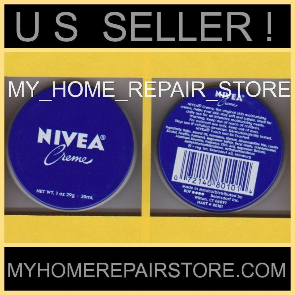 FREE S&H! YOU GET 2! NIVEA CREME SKIN MOISTURIZER TIN PURSE TRAVEL SIZE 1 OZ  | eBay