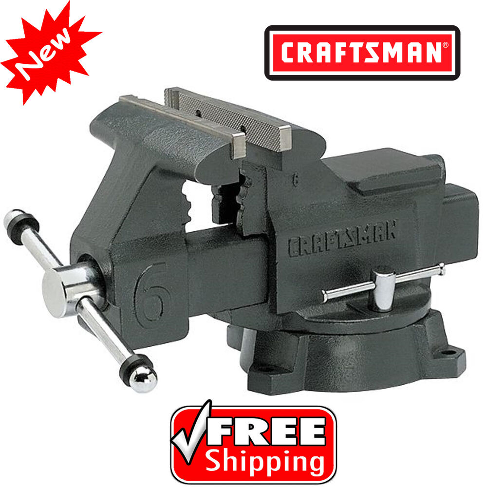 Craftsman 6 in bench vise 6inch press clamp machine repair woodworking vice tool ebay 6 inch bench vise