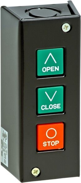 3 Button Open Close Stop Access Control Station Commercial