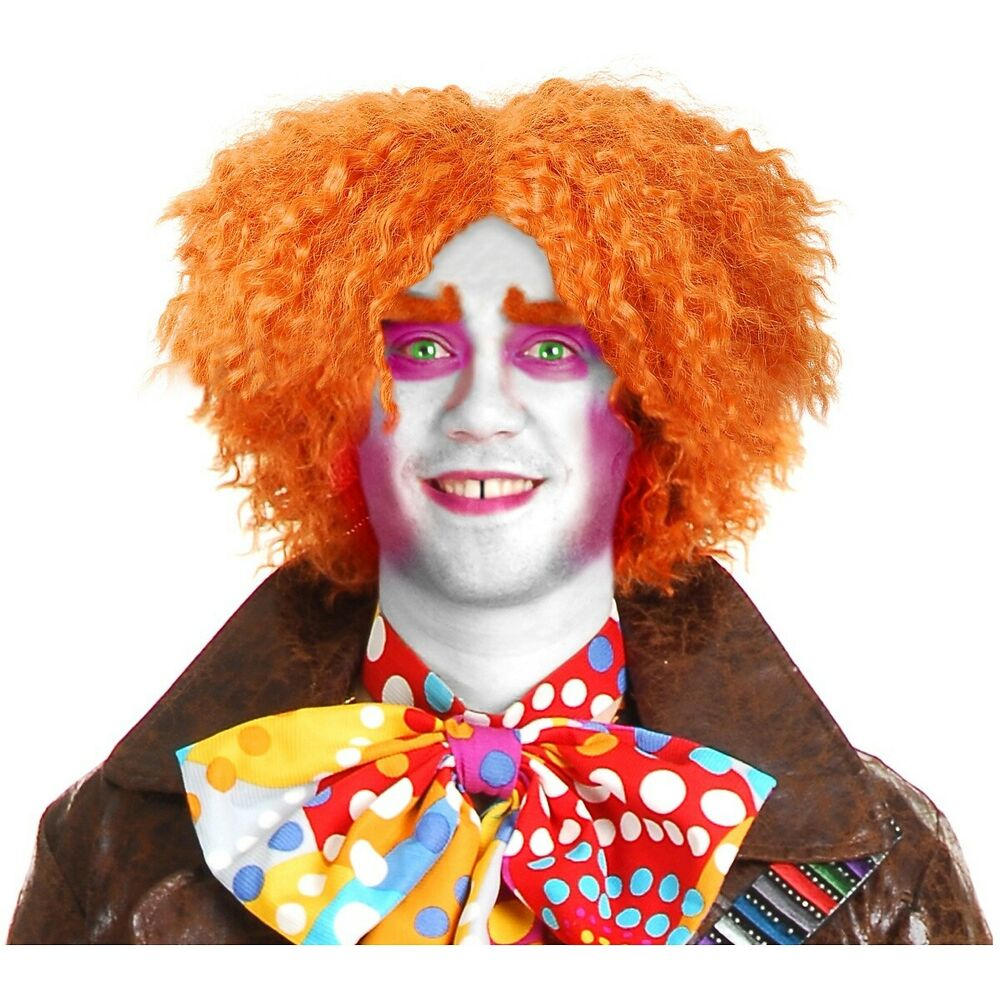 Mad Hatter Wig Orange Costume Accessory Adult Halloween Ebay