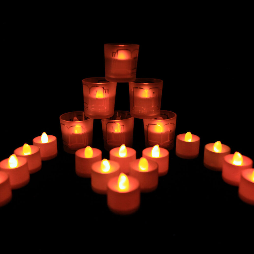 Http Www Ebay Com Itm 24pcs Led Flameless Tealight Candles Electric Led Yellow Candle Home Decor 272232324984