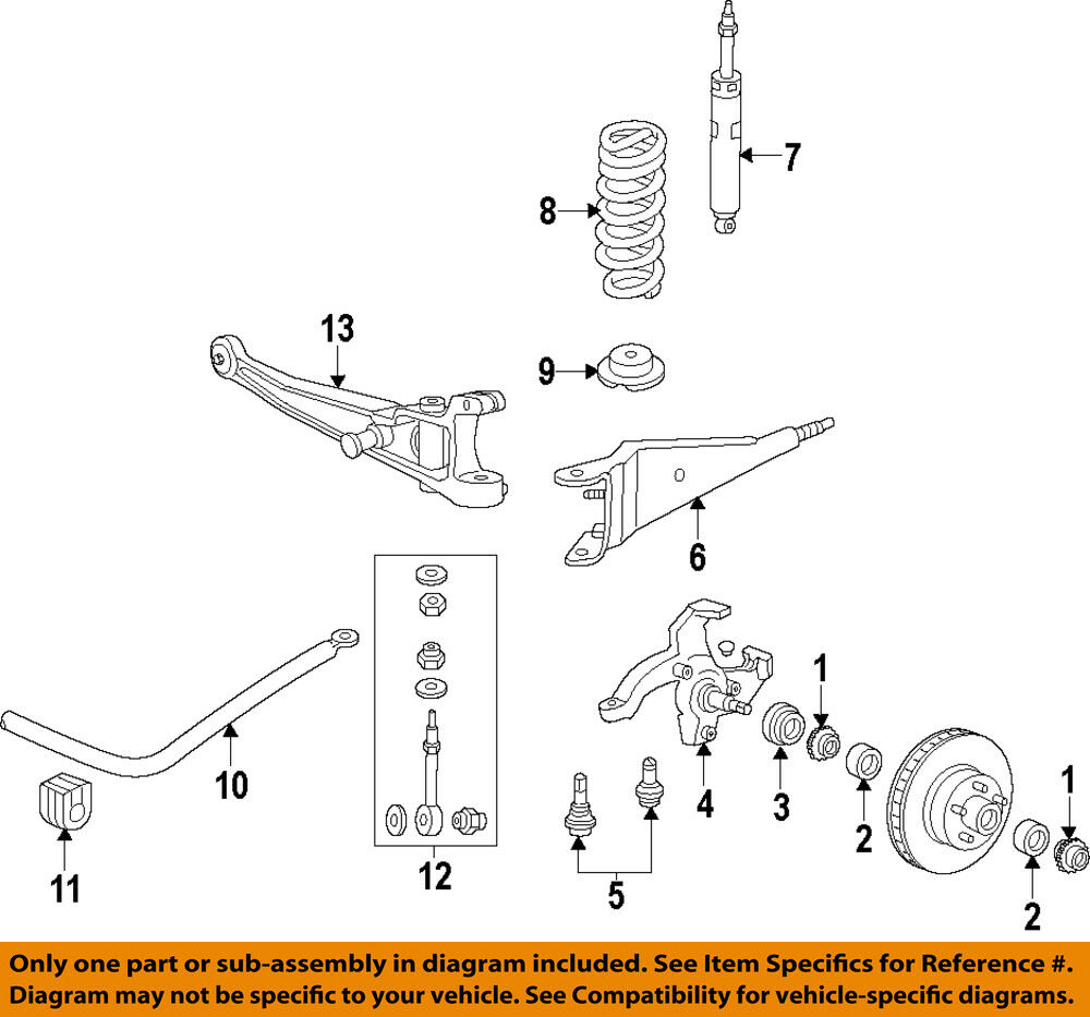 FORD OEM E150 Econoline Club Wagon Front Suspension-Radius