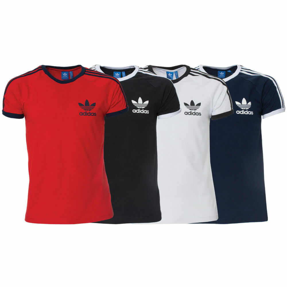 Adidas essentials originals mens california retro crew for Adidas lotus t shirt