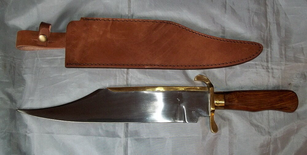 Large Quot Primitive Quot Bowie Style Fixed Blade Knife Mountain
