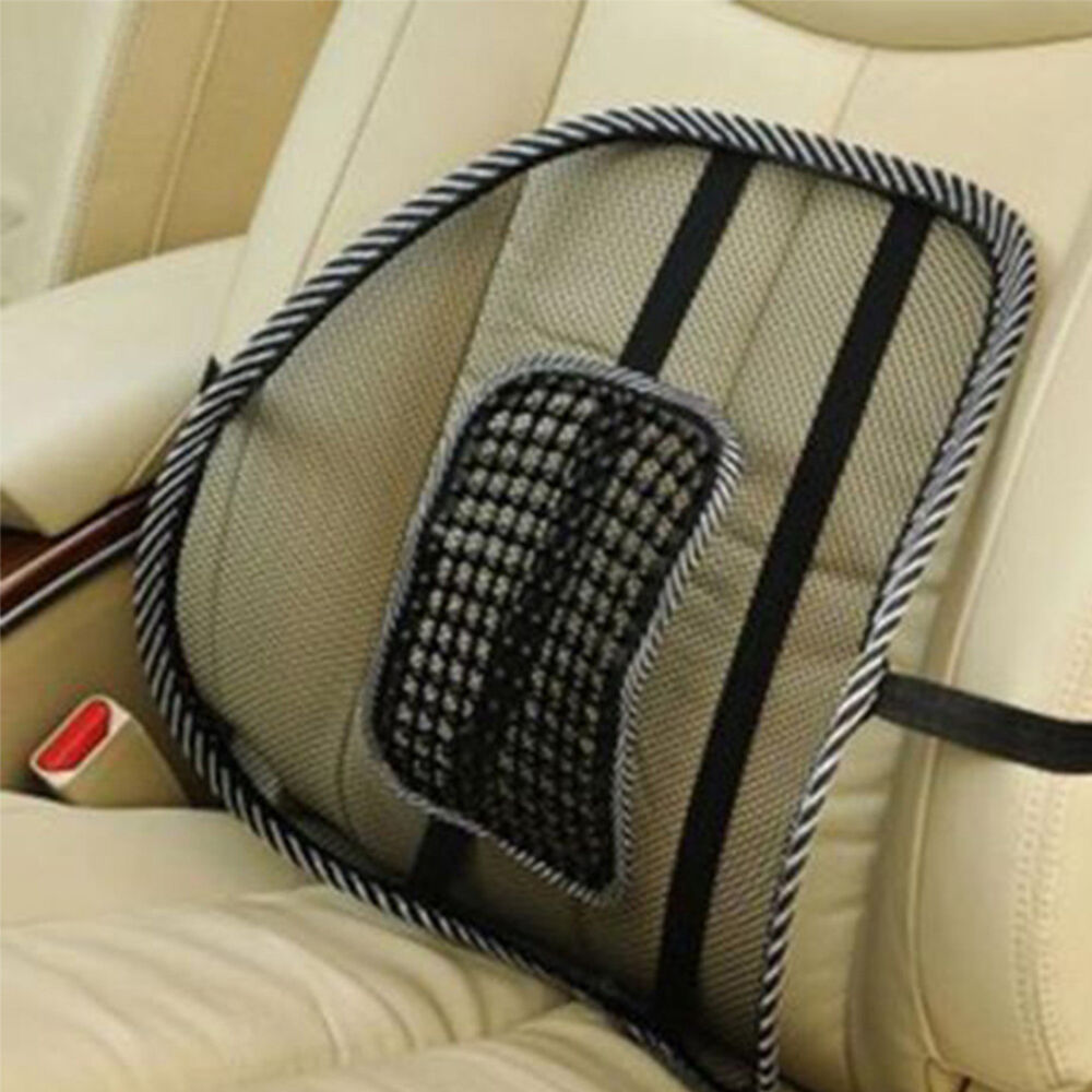 car home office medical back support comfort lumbar seat chair pillow cushion ebay. Black Bedroom Furniture Sets. Home Design Ideas