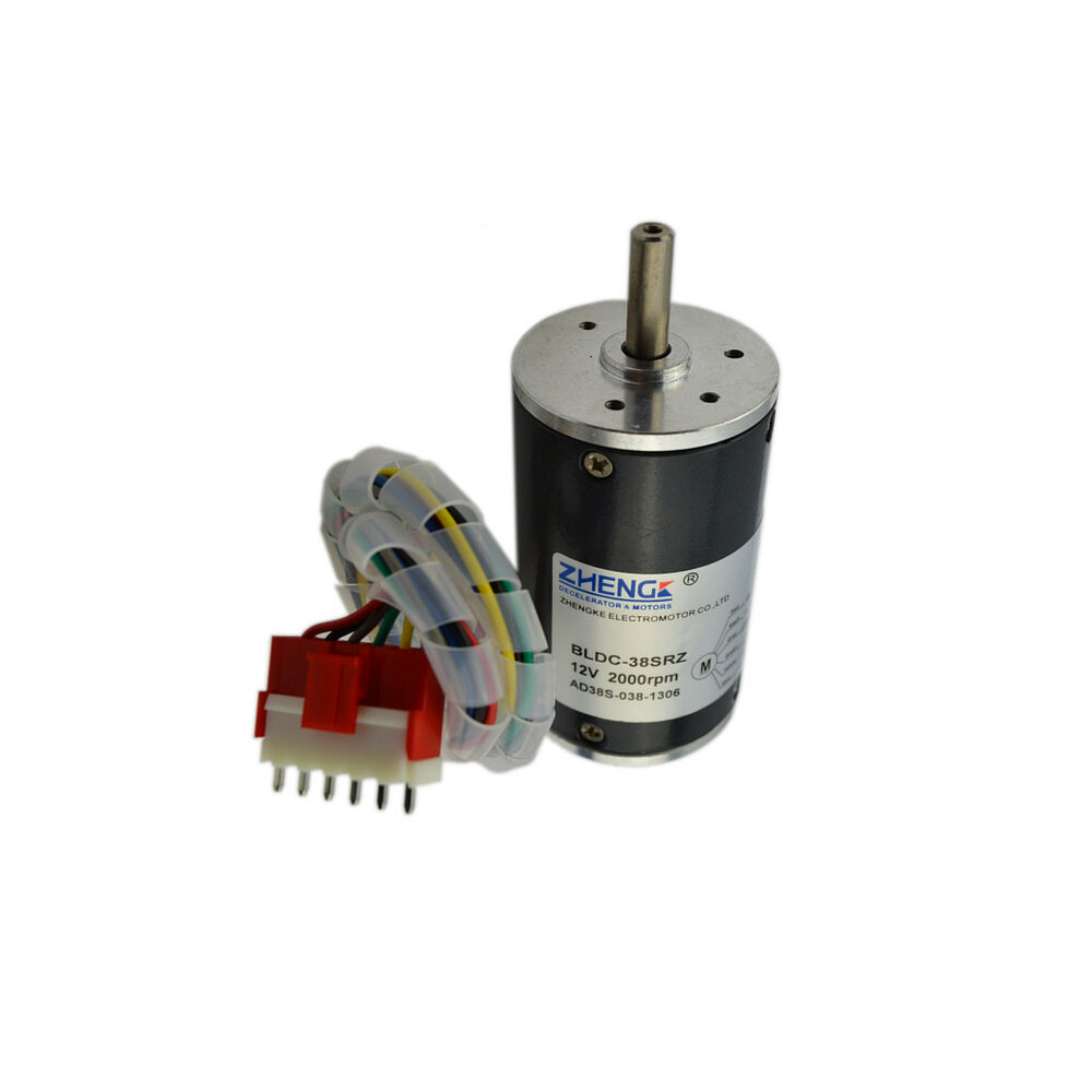 Electrical machine 2000rpm 12v dc geared motor brushless for Geared brushless dc motor